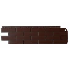 """Фасадная панель """"Клинкерный кирпич"""", коричневый"""